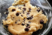 Raw Chocolate Chip Cookie Dough — Stock Photo