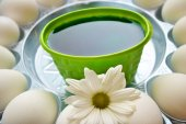 Green Easter Egg Dye — Stock Photo