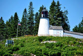 Burnt Island Lighthouse, Maine, USA — Stock Photo