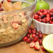 Preparing Holiday Cranberry & Apple Stuffing — Stock Photo #61876285