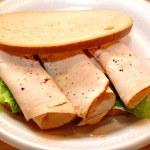 Turkey Deli Meat on Rye Bread — Stock Photo #61881297