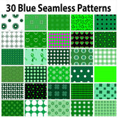 30 Green Seamless Patterns — Stock Vector