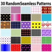 30 Random Seamless  Patterns — Stock Vector