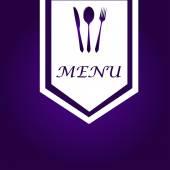 Simple Purple & White Menu Cover — Stockvektor