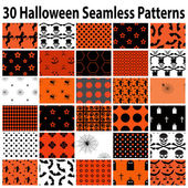 30 Halloween Seamless  Patterns — Stock Vector