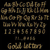 Shiny Golden Alphabet Letters — Stock Vector