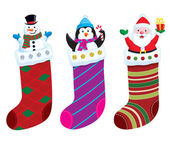 Christmas Stocking Characters — Stock Photo
