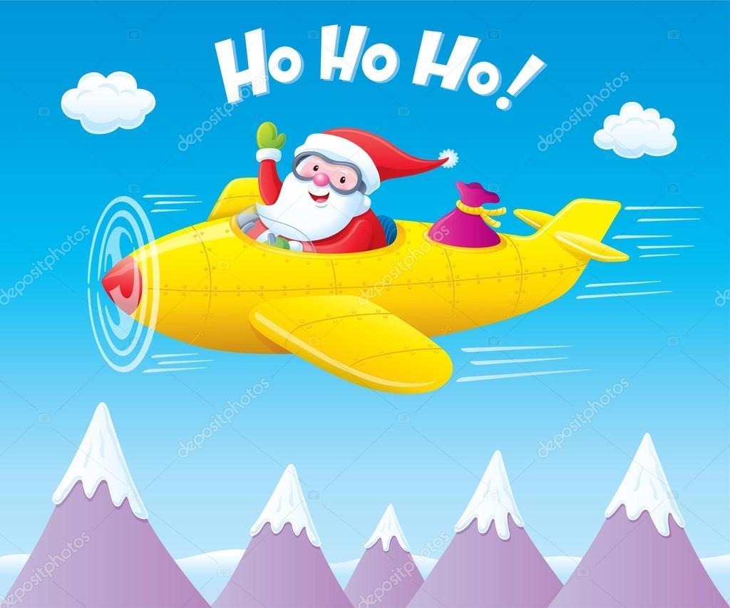 Flying santa png