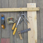 Set of vintage carpenter tools — Stock Photo #53936229