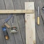 Set of vintage carpenter tools — Stock Photo #55412783