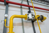 Place in a large industrial boiler room — Foto de Stock