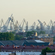 High view  the port of St. Petersburg, — Stock Photo #58019075