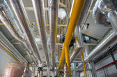 Place in a large industrial boiler room. — Stock Photo