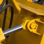 Detail of hydraulic bulldozer piston  — Stock Photo #70098741