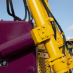 Detail of hydraulic bulldozer piston  — Stock Photo #70098743