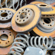 Useless, worn out and rusty brake discs  — ストック写真 #70098831