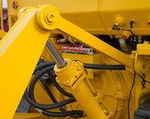 Detail of hydraulic bulldozer piston  — Stock Photo