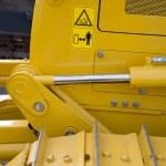 Detail of hydraulic bulldozer piston  — Stock Photo #71092627