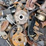 役に立たない、錆びたブレーキ ディスク磨耗 — ストック写真 #77595048