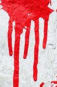 červená barva nekape na bílém pozadí — Stock fotografie