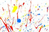 Multicolored paint splash — Stock Photo