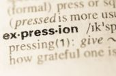 Dictionary definition of word expression  — Stock Photo
