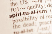 Dictionary definition of word spiritualism — Stock Photo
