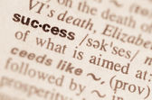 Dictionary definition of word success — Stock Photo