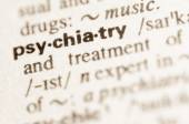 Dictionary definition of word psychiatry  — Stock Photo