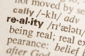 Dictionary definition of word reality  — Stock Photo