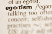 Dictionary definition of word  egotism  — Stock Photo