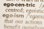 Dictionary definition of word  egocentric   — Stock Photo