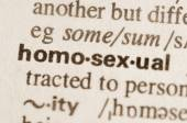 Dictionary definition of word homosexual — Stock Photo