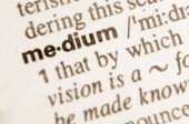 Dictionary definition of word medium — Stock Photo