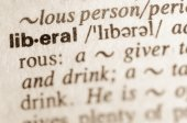 Dictionary definition of word liberal  — Stock Photo