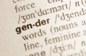 Dictionary definition of word gender  — Stock Photo