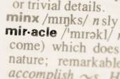 Dictionary definition of word miracle — Stock Photo