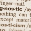 Dictionary definition of word agnostic — Stock Photo #68747605