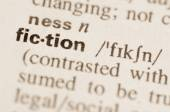 Dictionary definition of word fiction  — Stock Photo