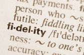 Dictionary definition of word fidelity  — Stok fotoğraf