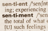 Dictionary definition of word sentiment  — Stok fotoğraf