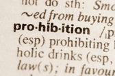 Dictionary definition of word prohibition — Stock Photo