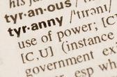 Dictionary definition of word tyranny  — Stock Photo