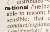 Dictionary definition of word rational — Stock Photo