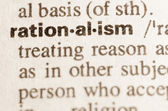 Dictionary definition of word rationalism — Stock Photo