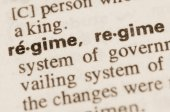 Dictionary definition of word regime  — Stock Photo
