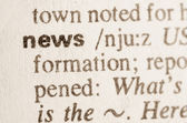 Dictionary definition of word news  — Stock Photo