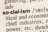 Dictionary definition of word socialism  — Stock Photo