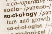 Dictionary definition of word sociology  — Stock Photo