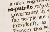Dictionary definition of word republic  — Stock Photo
